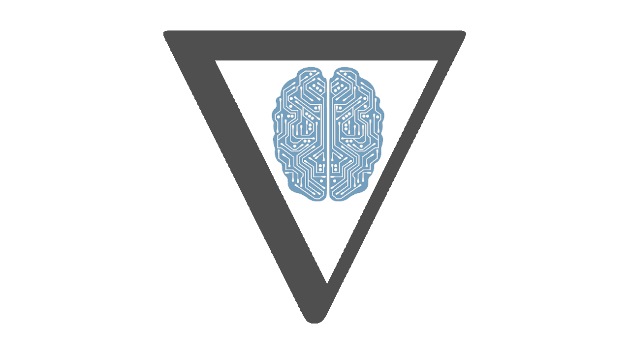 Differentiable code symbolized by a huge gradient symbol (∇) framing a computer brain.